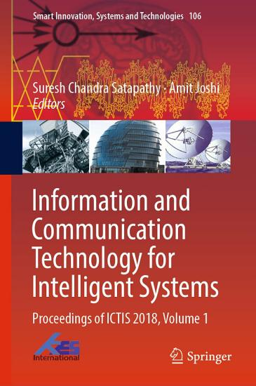 Information and Communication Technology for Intelligent Systems PDF