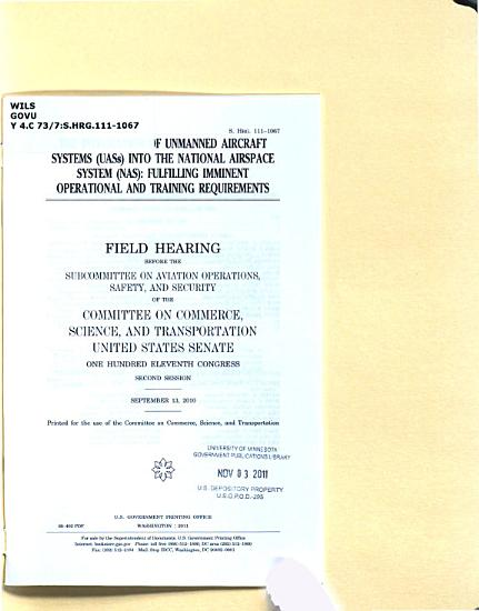 The Integration of Unmanned Aircraft Systems  UASs  Into the National Airspace System  NAS  PDF