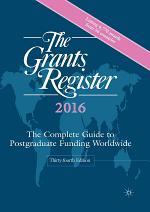 The Grants Register 2016