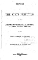 Report of the State Directors of the Delaware and Raritan Canal and Camden and Amboy Railroad Companies PDF