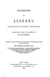 Elements of Algebra: Including Sturms' Theorem