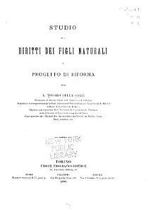 Studio sui diritti dei figli naturali e progetto di riforma PDF