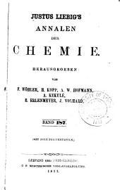 Justus Liebigs Annalen der Chemie: Bände 187-188