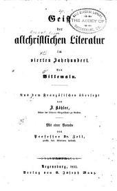Geist der altchristlichen Literatur im vierten Jahrhundert