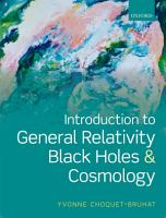 Introduction to General Relativity  Black Holes  and Cosmology PDF