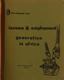 Income   Employment Generation in Africa PDF