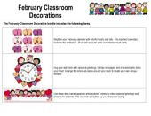 February Classroom Decorations by Karen's Kids