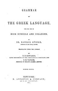 Grammar of the Greek Language PDF