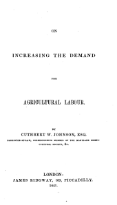 On Increasing the Demand for Agricultural Labour