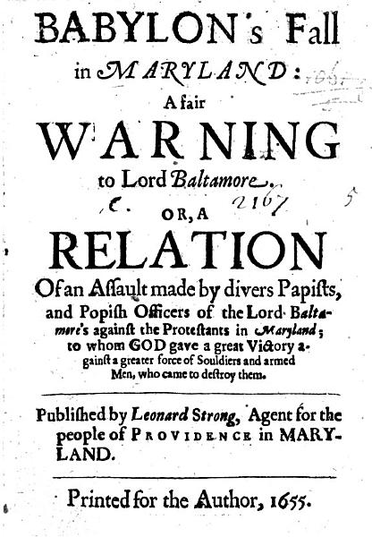 Download Babylon s Fall in Maryland  a fair warning to Lord Baltamore  Or  a relation of an assault made by divers Papists  and Popish officers of the Lord Baltamore s against the Protestants in Maryland     Published by Leonard Strong  Agent for the people of Providence in Maryland Book