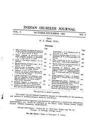 Indian Oil Seeds Journal PDF