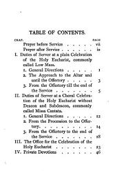 Ceremonial for servers at choral and plain celebrations of the holy eucharist, with the order of service, by the editors of Notes on ceremonial