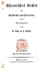 Rheinisches Archiv für Geschichte und Litteratur: Band 2