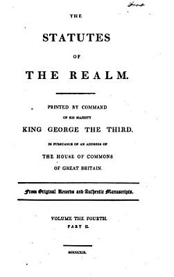 The Statutes of the Realm     PDF