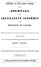 Journals of the Legislative Assembly of the Province of Canada: Volume 6