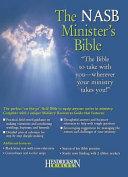 The Nasb Minister's Bible Burgundy New American Standard Bible