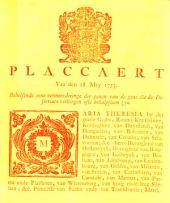 Placcaert van den 18. Mey 1753. Behelsende eene vermeerderinge der penen van de gene die de deserteurs verbergen ofte behulpsaem zyn