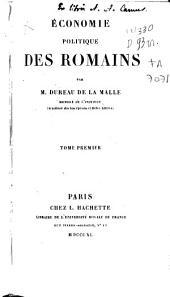 Economie politique des romains: Volume1