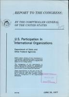 U S  Participation in International Organizations  Department of State and Other Federal Agencies PDF