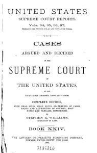 Reports of Cases Argued and Decided in the Supreme Court of the United States PDF