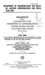Department of Transportation and Related Agencies Appropriations for Fiscal Year 1995: Architectural and Transportation Barriers Compliance Board