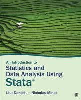 An Introduction to Statistics and Data Analysis Using Stata   PDF