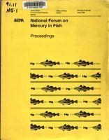 National Forum on Mercury in Fish Proceedings PDF