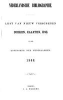 Nederlandsche bibliographie PDF