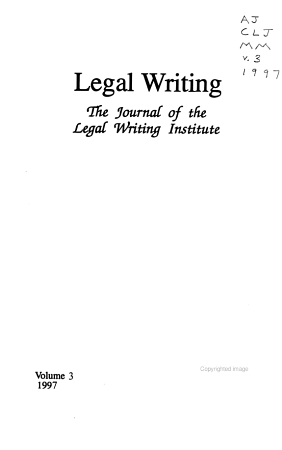 Legal Writing PDF