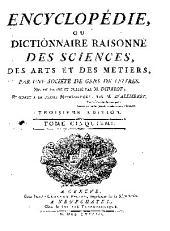 Encyclopédie, ou, Dictionnaire raisonné des sciences, des arts et des métiers: Volume5