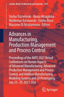Advances in Manufacturing  Production Management and Process Control PDF