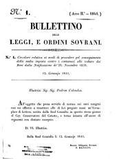 Bullettino delle leggi e ordini sovrani