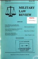 Military Law Review PDF