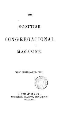 THE SCOTTISH CONGREGATIONAL MAGAZINE  PDF