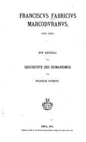 Franciscus Fabricius Marcoduranus (1527-1573)