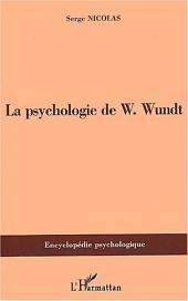 PSYCHOLOGIE DE W.Wundt (1832-1920)