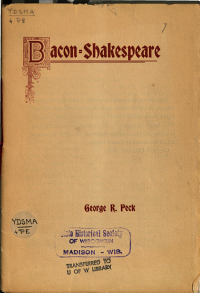 The Bacon Shakespeare Controversy
