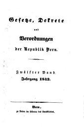 Gesetze, Dekrete und Verordnungen des Kantons Bern: 1842