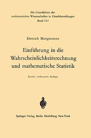 Einf  hrung in die Wahrscheinlichkeitsrechnung und mathematische Statistik PDF