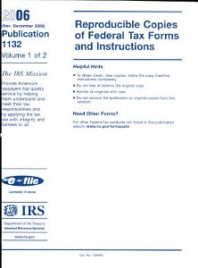 Reproducible Copies of Federal Tax Forms and Instructions PDF