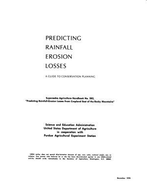 Predicting Rainfall Erosion Losses PDF