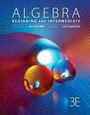 Algebra  Beginning and Intermediate