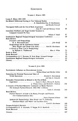 The Journal of Parapsychology PDF