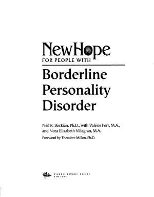 New Hope for People with Borderline Personality Disorder PDF