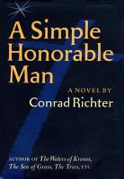 Simple Honorable Man PDF