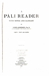 A Pāli Reader: Text and notes
