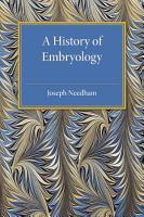 A History of Embryology PDF