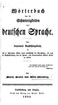 W  rterbuch   ber die Schwierigkeiten der deutschen Sprache  etc PDF