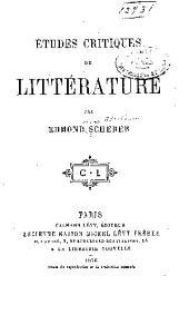 Études critiques de littérature