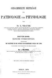 Gesammelte Beiträge zur Pathologie und Physiologie: Band 3